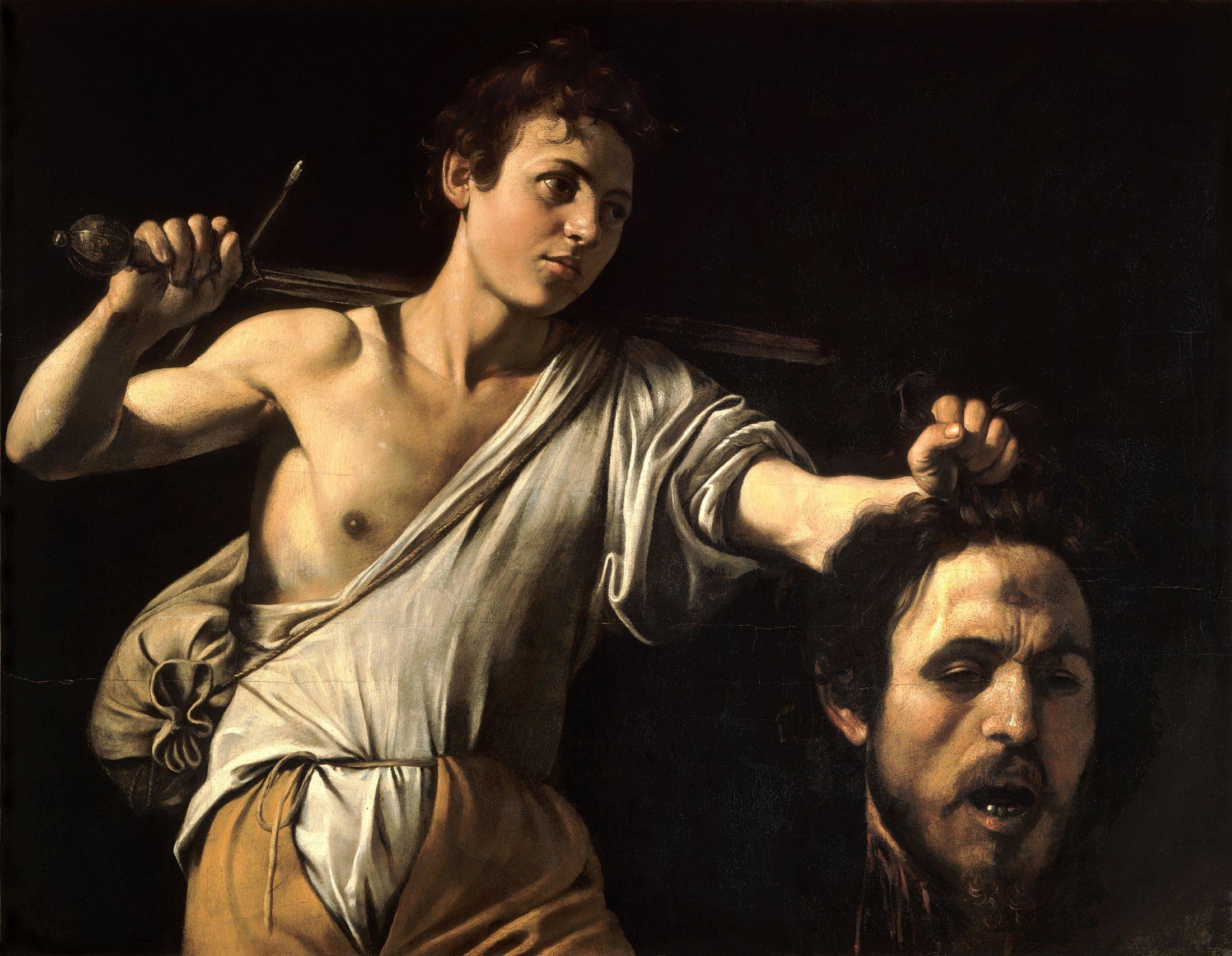 David With The Head Of Goliath-Caravaggio (c.1606-7)