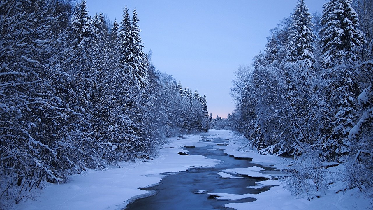 Finland Rivers Winter 482195