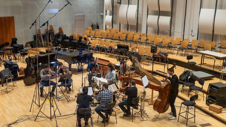 Tutti im Funkstudio: Sängerin Diana Haller mit dem Ensemble Diderot