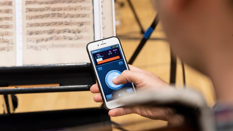 120 Schläge pro Minute: Die Metronom-App sorgt fürs richtige Tempo