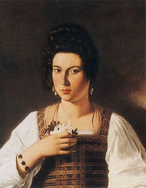 Portrait Of A Courtesan By Caravaggio